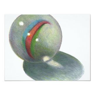 MARBLE IN COLOR PENCIL: REALISM ART CARD