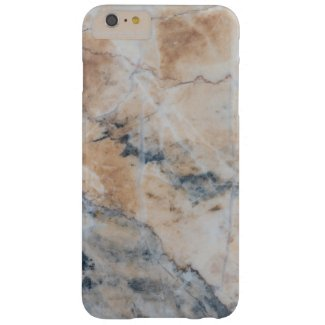 Marble in Light Beige And Gray Barely There iPhone 6 Plus Case