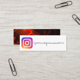 Marble Instagram Social Media Business Card