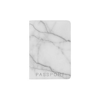 Marble light grey Passport Holder