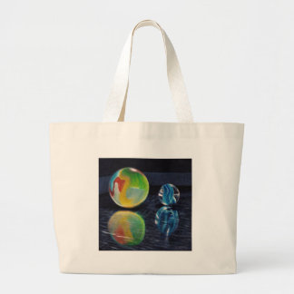 Marble Light Large Tote Bag