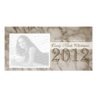 Marble Look Graduation Announcement
