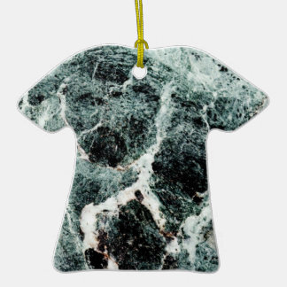 MARBLE-LOUS ~ Double-Sided T-Shirt CERAMIC CHRISTMAS ORNAMENT