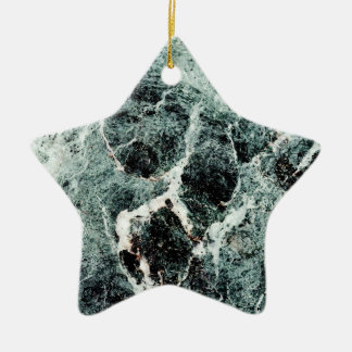 MARBLE-LOUS ~ Double-Sided STAR CERAMIC CHRISTMAS ORNAMENT