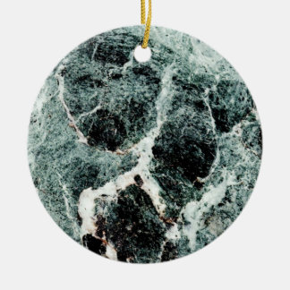 MARBLE-LOUS ~ Double-Sided CERAMIC ROUND CHRISTMAS ORNAMENT