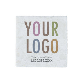 Marble Magnet Custom Business Logo Promotional