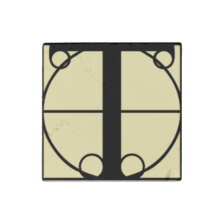 Marble Magnet Initial T Typography