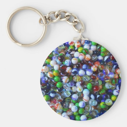 Marble Marbles Key Chain