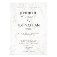 Marble modern wedding invitations
