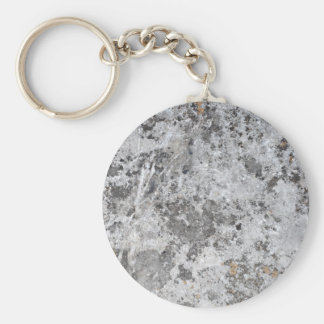 Marble mold texture basic round button keychain
