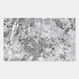 Marble mold texture rectangular sticker