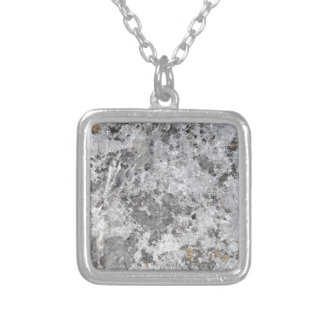Marble mold texture silver plated necklace