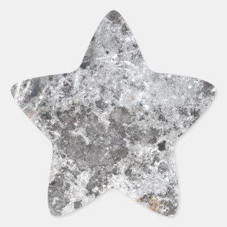 Marble mold texture star sticker