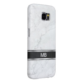 Marble Monogram Business Professional Samsung Galaxy S6 Case