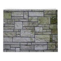 Marble mosaic wall calendar