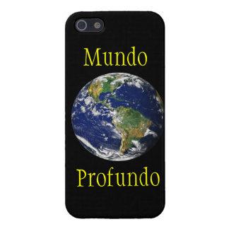 Marble_Mundo azul Profundo iPhone 5 Carcasa