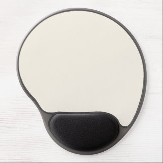 Marble Neutral Beige Cream Solid Color Background Gel Mouse Pad