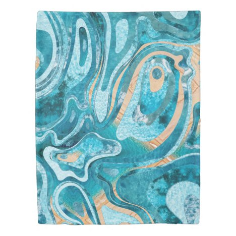 Marble Ocean Beach Duvet Cover