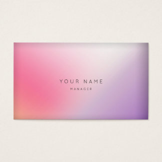 Marble Ombre Purple Pink Minimal Manager Vip Business Card