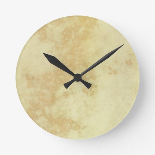 Marble or Granite Textured Round Clock