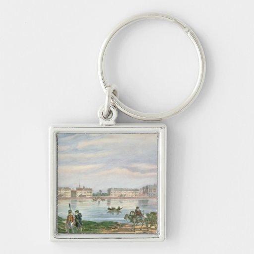 Marble Palace and Neva Embankment St. Keychain