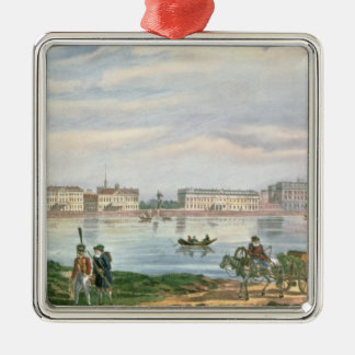 Marble Palace and Neva Embankment St. Christmas Tree Ornament