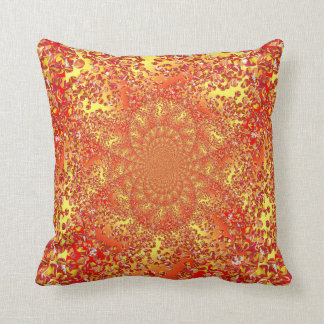 Marble Patch 2 embossed kaleidoscoped cushion Throw Pillow