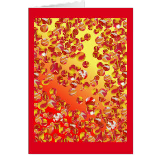 Marble Patch Art Card - Tall Red Multi Fun Designs