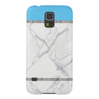 Marble pattered unique blue phone cover