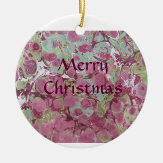 Marble Pattern Christmas Ornament