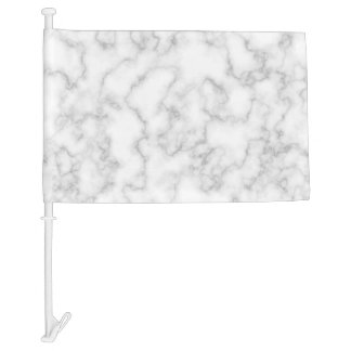 Marble Pattern Gray White Marbled Stone Background Car Flag