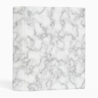 Marble Pattern Gray White Marbled Stone Background Mini Binder