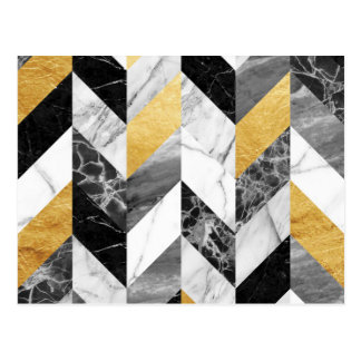Marble pattern postcard