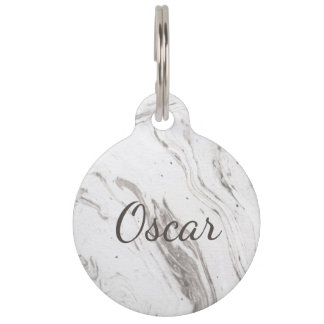 Marble Pattern Style 6 Pet ID Tag