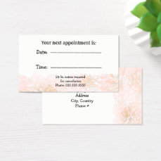Marble Peach Specialist Appointment Business Card