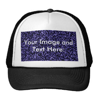 Marble Plain Blue Template Background Trucker Hat