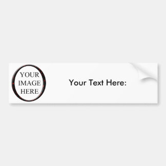 Marble Red Circle Frame Template Bumper Sticker