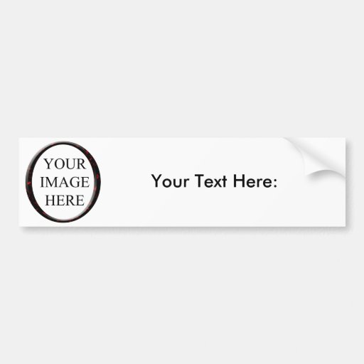 Marble Red Circle Frame Template Bumper Stickers