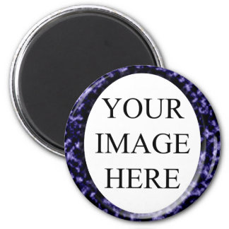 Marble Red Square Frame Template 2 Inch Round Magnet