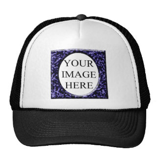 Marble Red Square Frame Template Trucker Hat