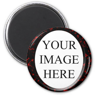 Marble Red Square Template 2 Inch Round Magnet