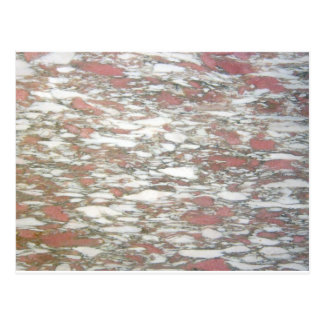 Marble Red & White Postcard