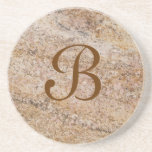 Marble Series--Tan Brn coaster--1 of Many Colors Drink Coasters