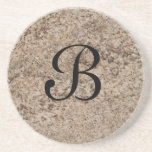 Marble Series--Tan Brn coaster--1 of Many Colors Drink Coaster