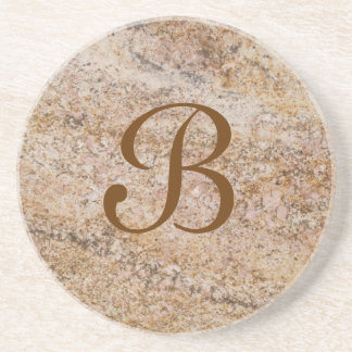 Marble Series--Tan Brn coaster--1 of Many Colors Sandstone Coaster