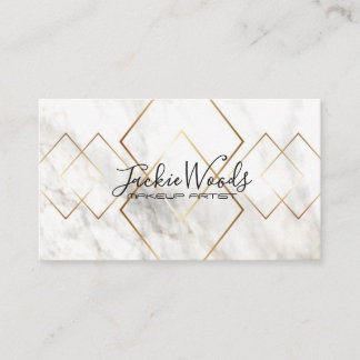 Marble Simulated Gold Geometry Business Card