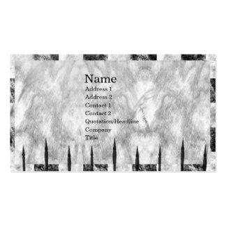 Marble Spikes Vintage Gothic Business Card