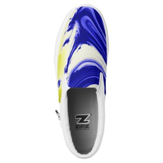 Marble splash color swirls zipz Slip-On sneakers