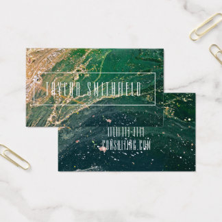 marble splash watercolor modern business card
