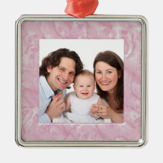 Marble Square Metal Christmas Ornament